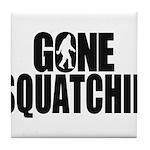 Gone Squatchin Sasquatch Tile Coaster