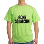 Gone Squatchin Sasquatch Green T-Shirt