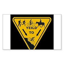 Yield to Shred - Mountain Bike Decal