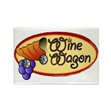 Wine Wagon Fridge Magnet