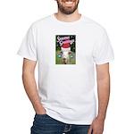 Ruby the Sassy Christmas Goat White T-Shirt