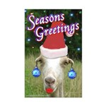 Ruby the Sassy Christmas Goat Mini Poster Print