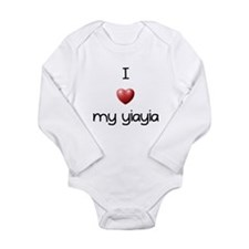 I Love Yia Yia Long Sleeve Infant Bodysuit