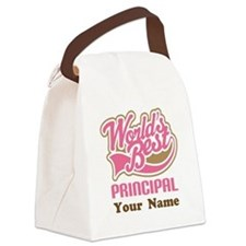 Personalized School Principal Canvas Lunch Bag