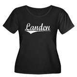 Landen, Vintage Women's Plus Size Scoop Neck Dark