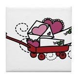 Love Letters In Wagon Tile Coaster