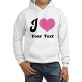 Personalized Love Heart Hoodie