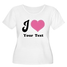 Personalized Love Heart T-Shirt