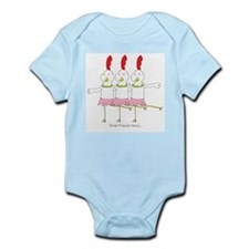 three French hens Infant Bodysuit