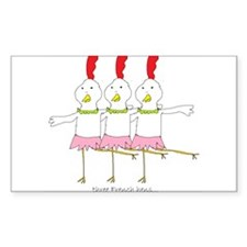 three French hens Decal