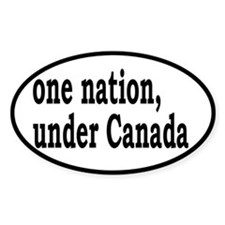 One Nation Under Canada Decal