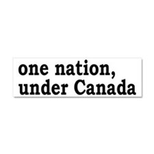 One Nation Under Canada Car Magnet 10 x 3