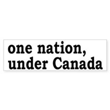 One Nation Under Canada Car Sticker