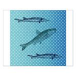 Three Fish Dots Small Poster