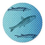 Three Fish Dots Round Car Magnet