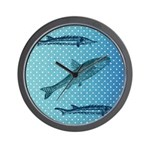 Three Fish Dots Wall Clock