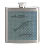 Three Fish Dots Flask