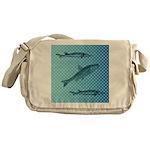Three Fish Dots Messenger Bag