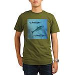 Three Fish Dots Organic Men's T-Shirt (dark)
