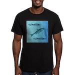 Three Fish Dots Men's Fitted T-Shirt (dark)