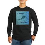 Three Fish Dots Long Sleeve Dark T-Shirt