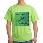 Three Fish Dots Green T-Shirt