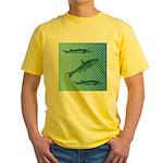 Three Fish Dots Yellow T-Shirt