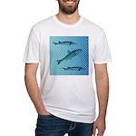 Three Fish Dots Fitted T-Shirt