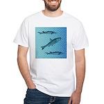 Three Fish Dots White T-Shirt