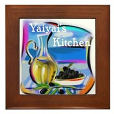 YiaYia's Kitchen Framed Tile