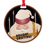 Holiday Santa Ornament