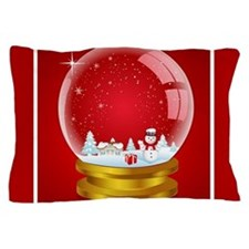 Snowglobe Pillow Case