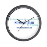 Howard dean Wall Clock
