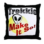 Trekkie Throw Pillow