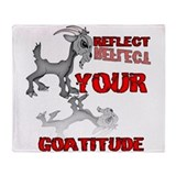 Goat Attitude Throw Blanket