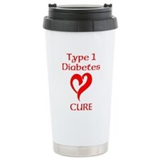 Type 1 Diabetes Cure Ceramic Travel Mug