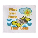 Float Your Goat Throw Blanket
