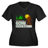 Gone Squatchin Vintage Retro Distressed Women's Pl
