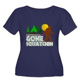 Gone Squatchin Vintage Retro Distressed T