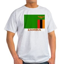 Zambia Flag Stuff Ash Grey T-Shirt