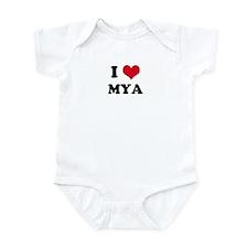 I HEART MYA Infant Creeper