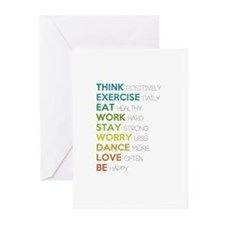 Eat, dance, love Greeting Cards (Pk of 20)