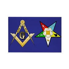 Masonic - Eastern Star Rectangle Magnet (100 pack)