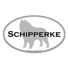 Schipperke Oval Decal