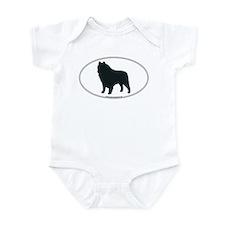 Schipperke Silhouette Infant Creeper