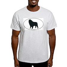 Schipperke Silhouette Ash Grey T-Shirt