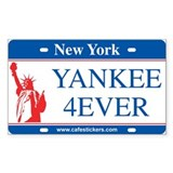 NY License Plate &quot;Yankee 4ever&quot; Decal