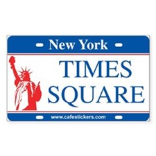 "NY License Plate ""Times Square"" Decal"