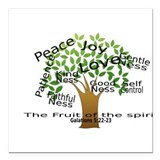 "Fruit of the Spirit Square Car Magnet 3"" x 3"""