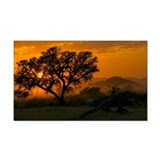 Dawn over Namibian landscape - Car Magnet